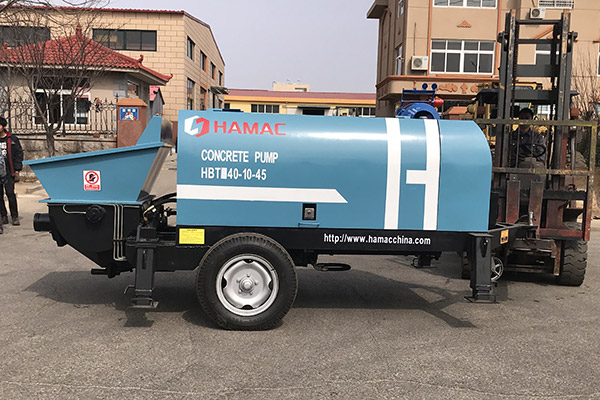 HBT40 electrical concrete pump in Kenya
