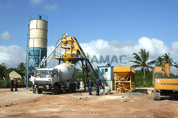 HZS50 Concrete Batching Plant in Philippines